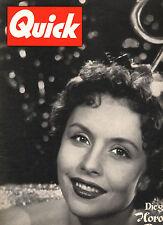Kult-Illustrierte QUICK, Nr. 1  von 1954, Titelbild Sonja Ziemann, guter Zustand