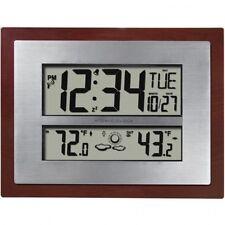 Atomic Clock Weather Forecast Digital Indoor Outdoor Temp Self Setting Time