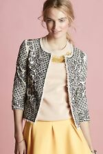 134917 Nw $268 Essentiel Antwerp Anthropologie Etched Blooms Jacket Blouse Top S