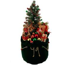 """NEW RAZ 32"""" Lighted Green Toy Bag with Presents Christmas Decoration 3615521"""