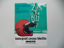 advertising Pubblicità 1979 CASCO BIEFFE INTEGRAL CROSS