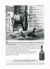PUBLICITE ADVERTISING  1991   JACK DANIEL'S  tennessee whiskey