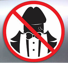 No Dick Heads Vinyl Cut Stickers 105 x 105 mm Funny Rude Penis Sexy Suit Tuxedo