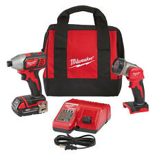 "Milwaukee M18 18V Li-Ion 1/4"" Impact Driver Kit w/ LED Work Light  2656-21L"