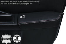 WHITE STCH 2X FRONT DOOR ARMREST LEATHER COVER FOR SUBARU IMPREZA WRX STI 01-04