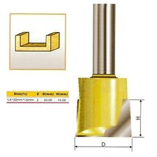 Metric Cleaning Bottom Router Bit - 1/4*20mm*15mm - 1/4'' Shank -