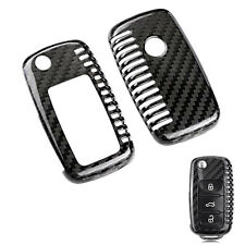 Carbon Fiber Flip Remote Key Shell Cover Holder Case for Golf MK5 Beetle Polo