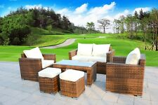 New 6 Piece Outdoor PE Rattan Wicker Patio Furniture Garden Sectional Sofa Set