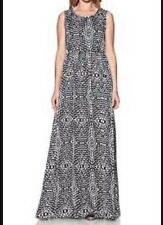 BNWT ��GOLDIE London��@ LIPSY Maxi Dress XS (6-8) Black Dim Dot Day Evening New
