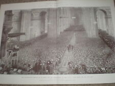 Thanksgiving service St Pauls CIV City Imperial Volunteers 1900 print S Begg
