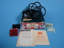 Vtg Pace Electric Hair Clippers w/ guards + Original Box Model H - Working!