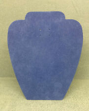 Set of 5 Jewellery Display Card Busts [A] Summer Blue Suedette