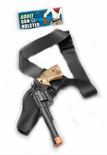 Cowboy Black Leather Look Holster and Gun Cowboy and Indians Western Fancy Dress
