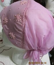 style beautiful  bides embroidery boonet  cap&hat soft nice to ware any time