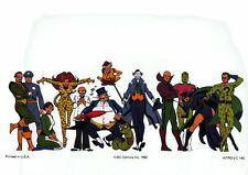 GREATEST VILLAINS of DC Universe PRINT 1982