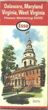 1964 Esso Delmarva Vintage Road Map / MD State House on cover