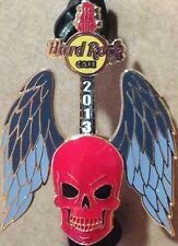 Hard Rock Cafe ONLINE 2013 3-D Winged Guitar Series #1 RED SKULL Pin-on-Pin LE75