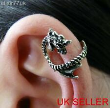 UK NEW ALCHEMY GOTHIC DRAGON LURE EAR CUFF UPPER HELIX CLIP WRAP CARTILAGE PUNK