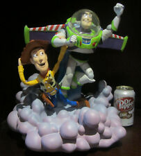 RARE Disney Toy Story Buzz Lightyear Woody Medium Fig Figure Statue Display