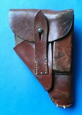 Genuine WW2 German PP PPK Brown Leather Pistol Holster, 1943.