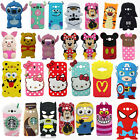 3D Cartoon Soft Silicone Phone Back Case Cover Skin for Samsung Galaxy Phones