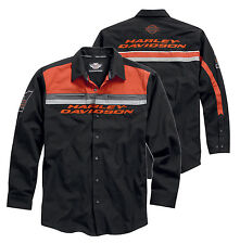 Harley Davidson Mens Colorblocked Woven Long Sleeve Shirt Jacket NWT