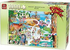 NEW! King Funny Comic - Rocky Mountains Wide 1000 piece cartoon jigsaw puzzle