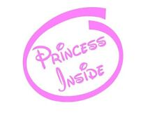 princess inside girls car sticker hot pink bedroom door wall art fun tinkerbell