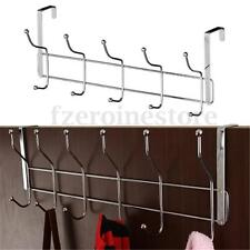 New 12 Hooks Chrome Over Door Coat Hat Dress Clothes Garments Hanger Hanging