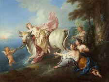 DE TROY FRENCH ABDUCTION EUROPA OLD ART PAINTING POSTER BB5830A