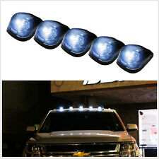 5 Pcs Smoke White Lens LED Roof Running Lights Cab Marker Cover for SUV 4X4