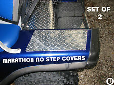 Ezgo Marathon Golf Cart Diamond Plate NO STEP COVERS