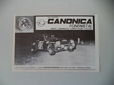 advertising Pubblicità 1981 CANONICA e RENAULT 5 TURBO e PERAZIO/VALLI VESIMESI
