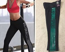 NEW VICTORIA'S SECRET VSX SPORT KNOCKOUT YOGA Crop PANT Capri Black Green Logo S