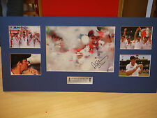 Signed Andrew Strauss England Cricket Mounted Photo Display - Ashes Hero