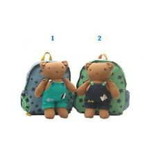 Lovely Toddler Korean Momoailey Safety Harness Backpack with Removable Bear
