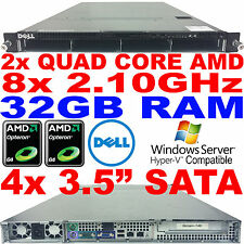 Double AMD Quad Core Dell PowerEdge CS24-NV7 Rack Serveur 2.1GHz 32GB