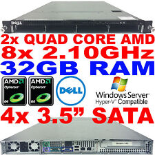 Dell PowerEdge CS24-NV7 Double AMD Quad Core Rack Serveur 2.1GHz 32GB