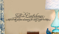 SELF CONFIDENCE Girl Bedroom Teen Vinyl Wall Decal Lettering Words Sticker 36""