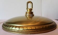 CANOPY SPUN BRASS SCREW COLLAR LOUP AND ALL PARTS LAMP REFURBISH REPAIR #44