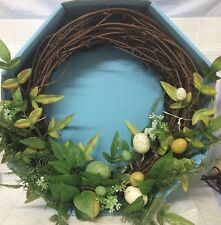 "16"" MAPLE LEAF EGG WREATH ~ SPRING SUMMER EASTER WREATH ~ FREE SHIPPING"