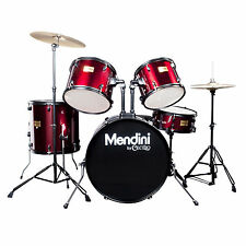 Mendini Bright Red 5-Piece Complete Adult Drum Set +Cymbal+Throne ~MDS80-BR
