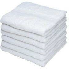 12 NEW WHITE GEORGIA MILLS BRAND ECON GYM SALON HAND TOWELS 15X25 KITCHEN TOWELS