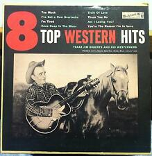 "JIM ROBERTS 8 top western hits 10"" VG+ PL-66-1841 Mono 1957 Record"