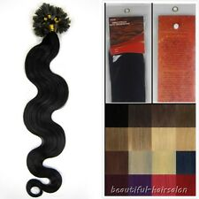 "New 20"" Keratin Nail/U Tip Remy Human Hair Extensions 100s 8Colors Curly Wavy"