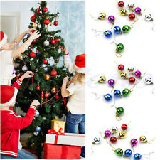 12 Pcs 3cm Boule Multicolor Noël Babioles Hanging Tree Ornement Décor de Noël