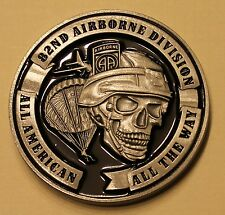82nd Airborne Division All American Skull Army Challenge Coin