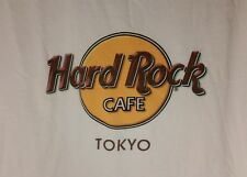 Hard Rock Cafe TOKYO Japan Sz Large White Cotton T Shirt