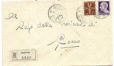 P8105   Como, Dervio, raccomandata per lire 1,75 diretta a Como, 1944
