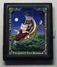 The Owl and the Pussycat   Black  Metal Wallet Cigarette Case #949